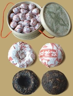 Tianpin Mini Pu-erh Tuocha Basket